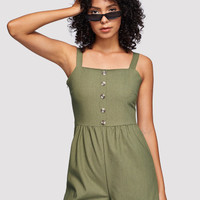 Single Breasted Cami Romper