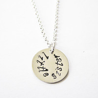 Personalized Little Sister Custom Necklace, Handstamped Name, Lil Sis Jewelry, Stamped Necklace, big sister, middle sister, younger sister