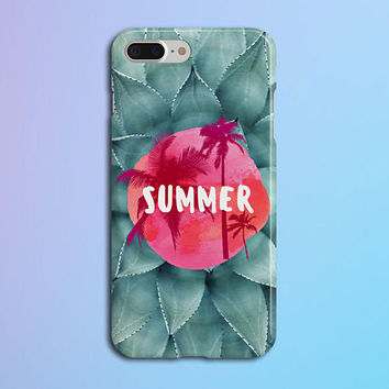 Tie Dye Summer x California Palms Phone Case, iPhone 7, iPhone 7 Plus, Rubber iPhone Case, Galaxy s8, Google Pixel, Nature CASE ESCAPE