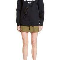 Givenchy Destroyed Cotton Sweatshirt | Nordstrom