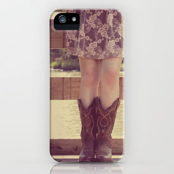 Thank God I Was Born a Country Girl iPhone Case by RDelean | Society6