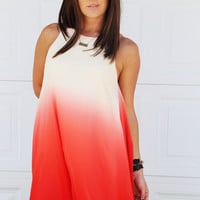 Dip Dye Summer Ombre Dress