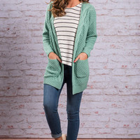 To Love Somebody Cardigan, Mint