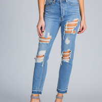 In Distress Washed Jeans