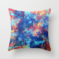 Color Theory Throw Pillow by Kristyn Kubiak | Society6