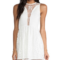 For Love & Lemons Lulu Dress in Ivory