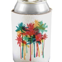 Paint Splash Palm Trees Can / Bottle Insulator Coolers