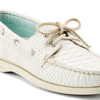Sperry Top-Sider Women's Cloud Logo Authentic Original 2-Eye Python Boat Shoe