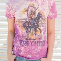 "Gina ""The Chief"" Bleached Tee"