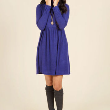 Honoring Hygge Sweater Dress in Cobalt | Mod Retro Vintage Dresses | ModCloth.com