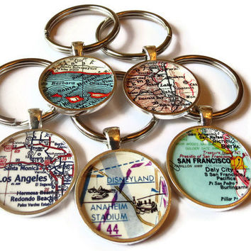 Personalized Keychain, CUSTOM California map keychains make great personalized gifts