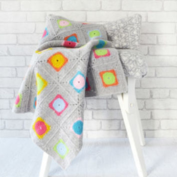luxury granny square crochet blanket kit by warm pixie diy | notonthehighstreet.com
