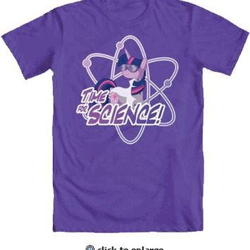 My Little Pony Time For Science Adult Purple T-Shirt - My Little Pony - Free Shipping on orders over $60 | TV Store Online