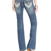 Miss Me Jeans, Bootcut Medium-Wash Lace - Jeans - Women - Macy's