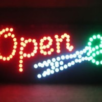 2xhome - High Visible Bright Big Chip Open Led Moving Animated Scissor Scissors Sign Colors Neon Business Motion Light Sign On Off Switch Button Chain 19x10 for Hair Salon Barber Shop Beauty Parlor Shop Store Business Wall Window Display