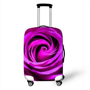 18 - 28 Inch Rose Print Women Luggage Covers Elastic Protective Covers for Suitcases Travel Accessories Dust-proof Case Covers