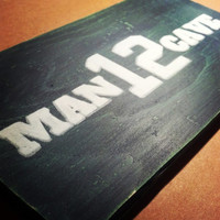 12th Man Cave Sign, 12th Man Sign, Hand Painted Wooden Seahawks Sign, Vintage Inspired 12th Man Sign, Seahawks Man Cave, Seahawks Fan Cave