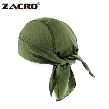 Zacro Quick Dry Pure Cycling Cap Head Scarf Summer Men Running Riding Bandana Headscarf Ciclismo Pirate Hat Hood Headband