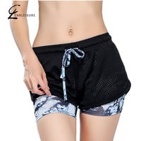 S-L 6 Colors Women Short for Workout Fashion Casual Active Short Feminino Fake Two Breathable Shorts Women