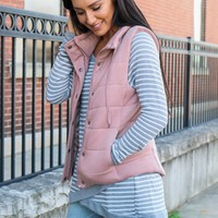 So Cozy Vest - Blush