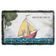 Where the Wild Things Are Max's Boat Woven Throw