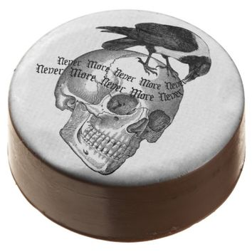 Raven And Skull Never More Chocolate Dipped Oreo