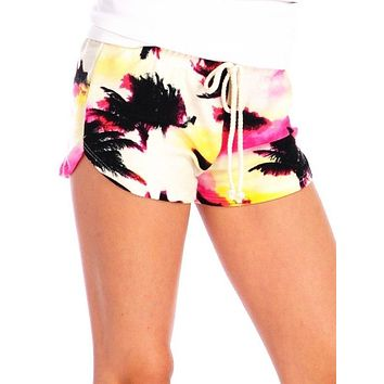 Vintage Havana Super Soft Pink Palm Tree Shorts