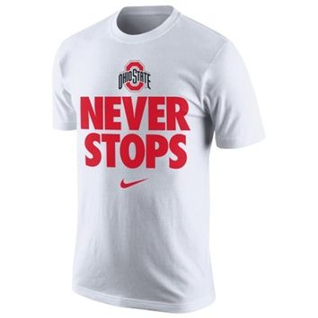 Men's Nike White Ohio State Buckeyes Bench Legend T-Shirt