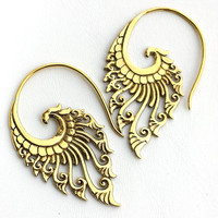 18g Brass Elegance Earrings from Born This Way Body Arts