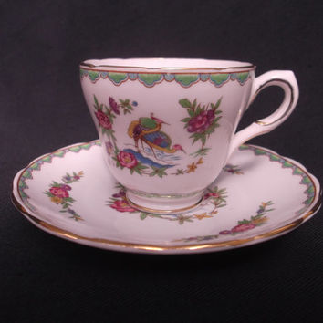 Grosvenor China coffee cup and saucer entitled 'Nansing'.  Ideal gift. Wedding, celebration or coffee shop use or display