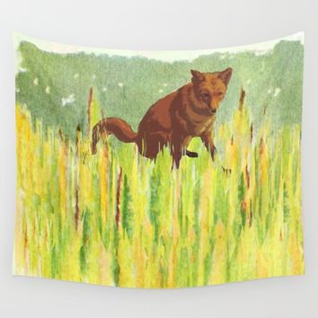 In the long grass Wall Tapestry by anipani
