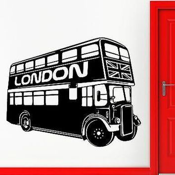 Wall Sticker Vinyl Decal Double-Decker Bus Symbol London United Kingdom Unique Gift (ig1419)
