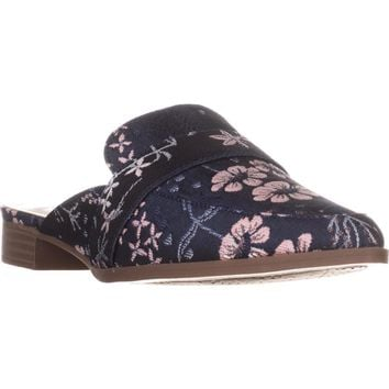 Charles by Charles David Emma Flat Mules, Navy Multi Floral, 6 US