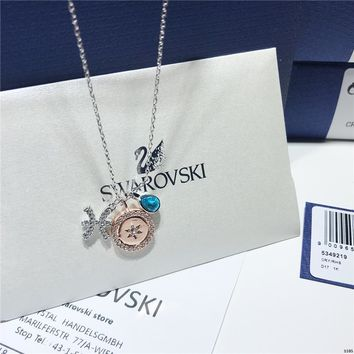 KUYOU Swarovski Zodiac Pisces Variable Styling Constellation Necklace Clavicle Chain