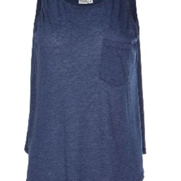 Stephanie- Womens Flowy Pocket Tank