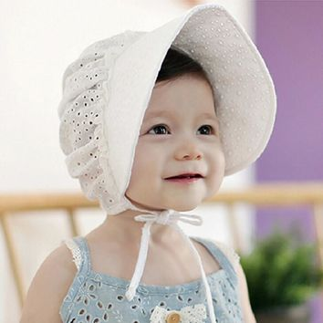 Infant Bonnet Retro Cotton Beanie Hat Baby Girls Chapeau Nordic Vintage Lace Toddler Bonnet Christening Baptism Cap 1pc H833