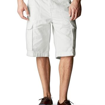 True Religion Isaac Tonal Cargo Mens Short - White