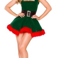 Adult Kristen Kringle Northern Angel Holiday Mini Dress