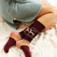 Reindeer Intarsia Boot Socks - Urban Outfitters