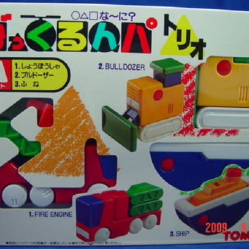 Takara Tomy びっくるんパ Bikkurunpa Transformer Bricks Transport Series Set A 1 Fire Engine 2 Bulldozer 3 Ship Figure