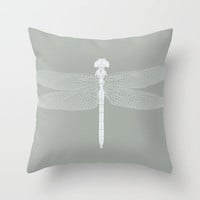 dragonfly v4 Throw Pillow by Colli13