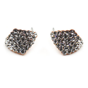 Rhombic crystal earrings