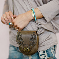 Daisy Chain Leather Crossbody