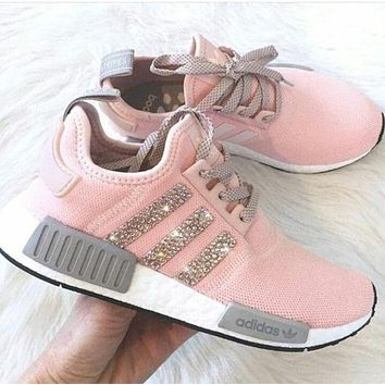 Adidas NMD Fashion Glittering Breathable Running Sports Shoes Sneakers