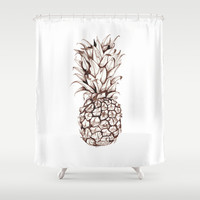 Pineapple Shower Curtain by Turn North Press | Society6