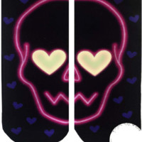 Love Skull Ankle Socks