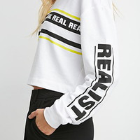 Real Graphic Cropped Sweatshirt