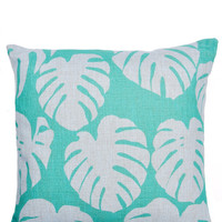 Philodendron Leaf Pillow