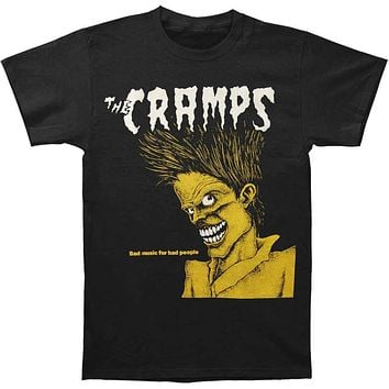 "THE CRAMPS ""Bad Music for Bad People"" Men's Punk Rock Band T Shirt High Quality (S-3XL)"