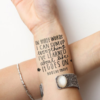 On and On - Temporary Tattoo (Set of 2)
